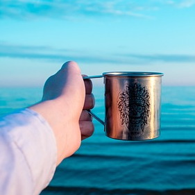 Water Cup and Sea